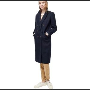 J crew  black wool trenchcoat without line…